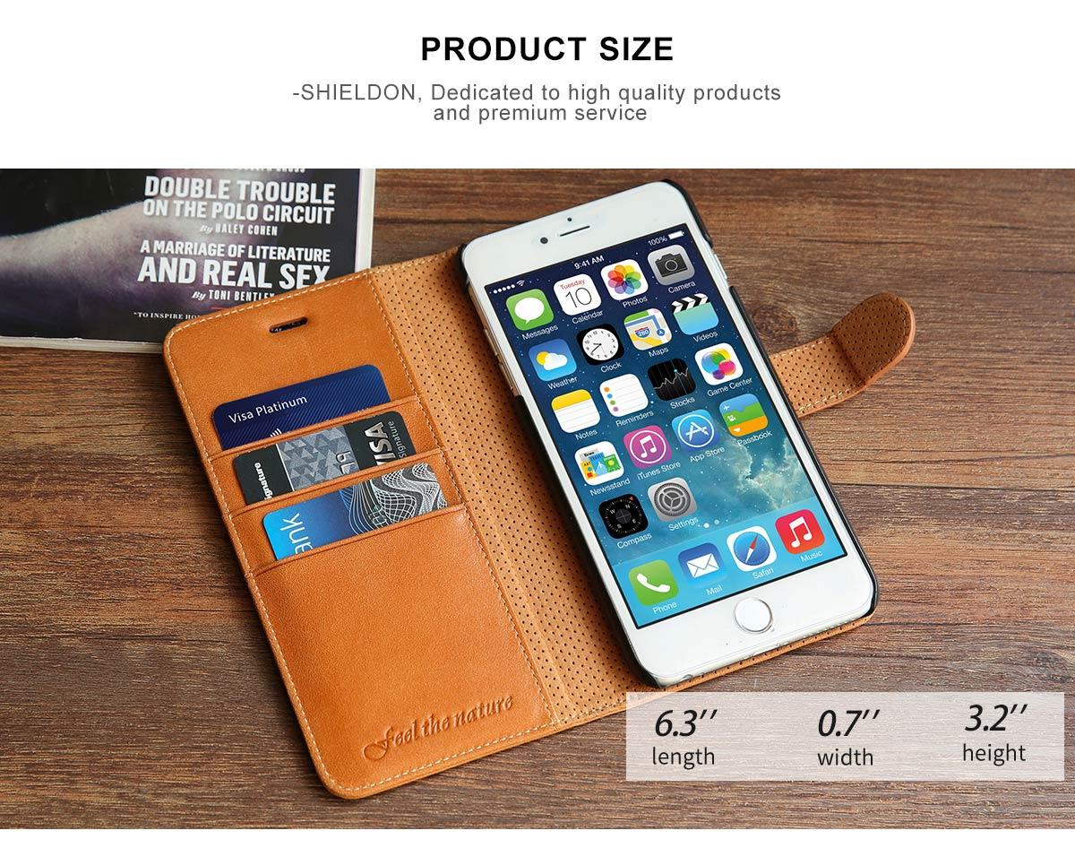 SHIELDON iPhone 6 Plus Wallet Case