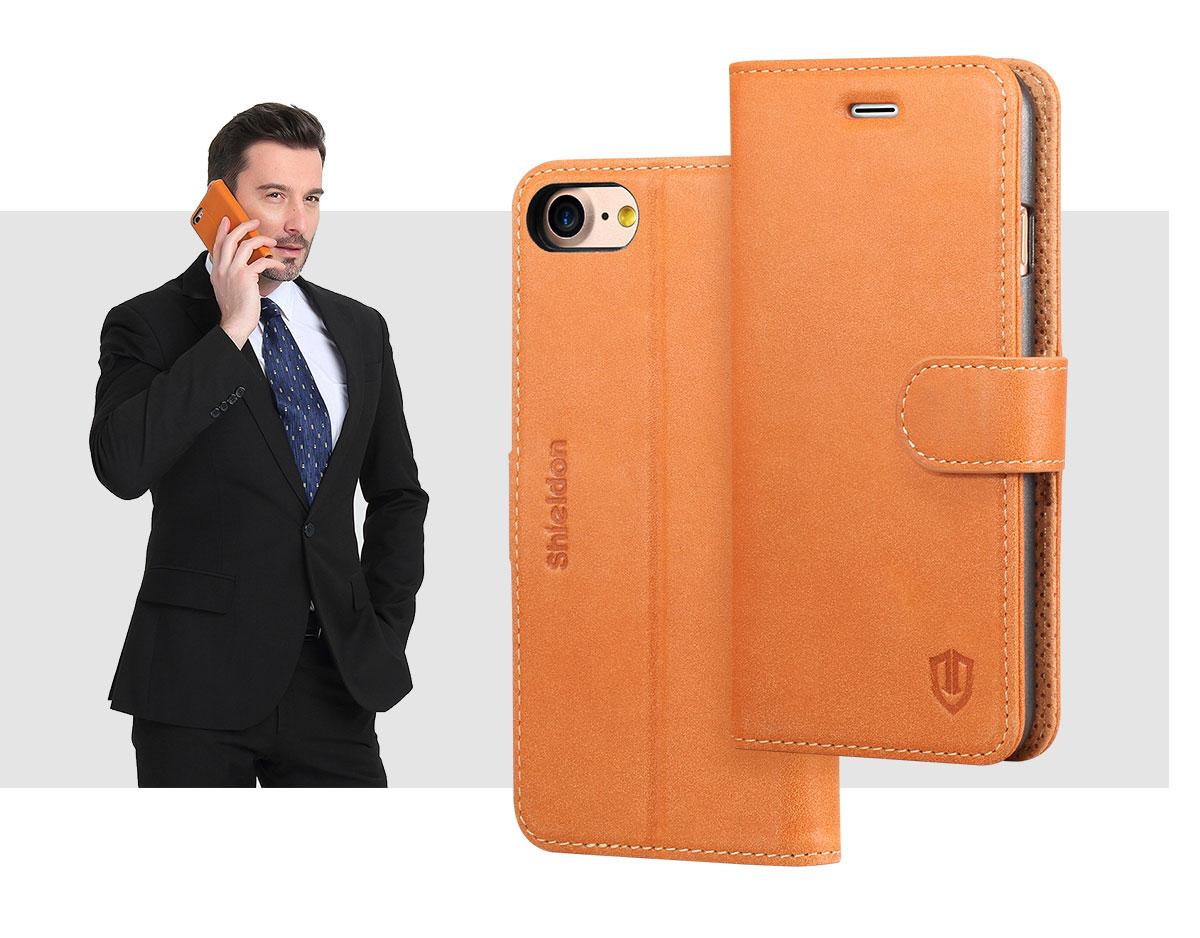 SHIELDON iPhone 8 Wallet Phone  Case