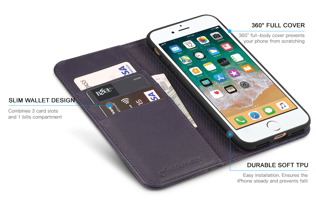 Shieldon iPhone 7 Plus Wallet Case