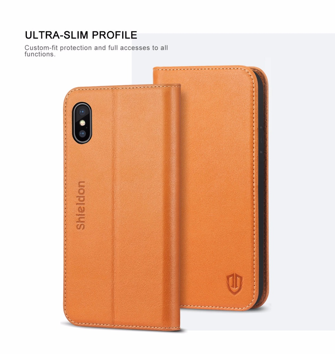 Shieldon iPhone X / iPhone XS Book Case with Magnetic Closure