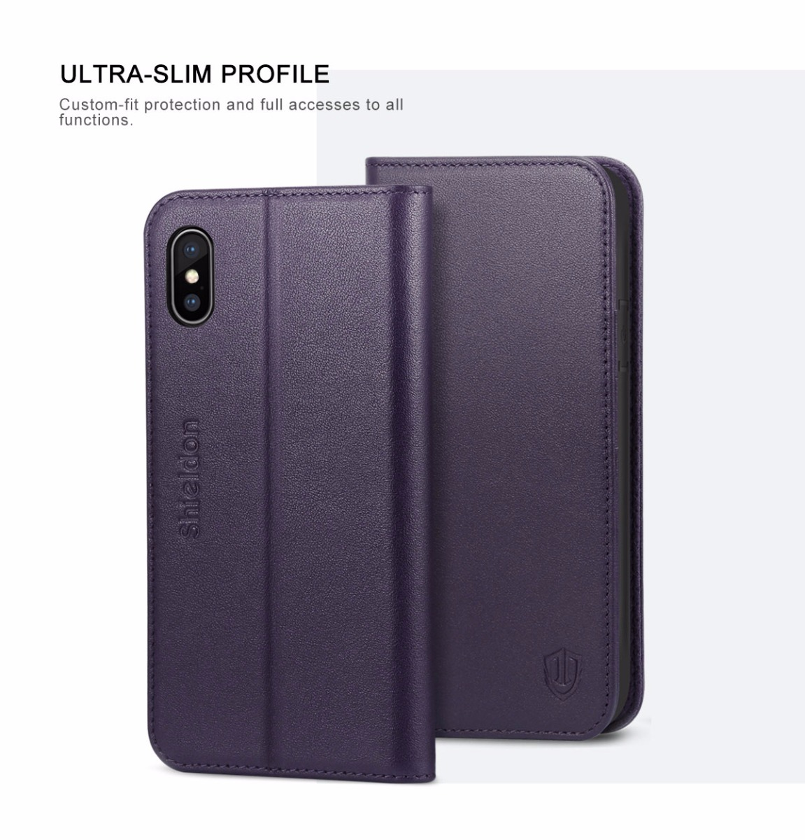 Shieldon iPhone X Book Case with Magnetic Closure