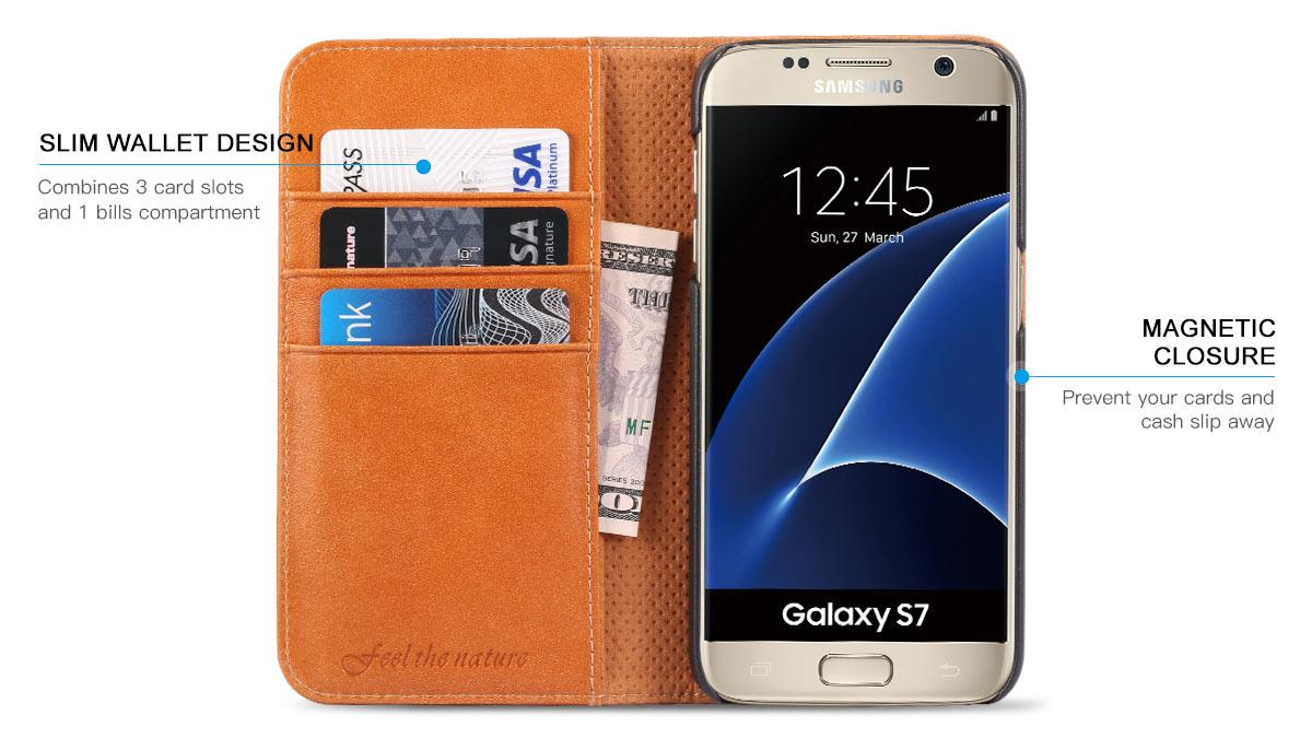 SHIELDON Galaxy S7 Genuine Leather Case