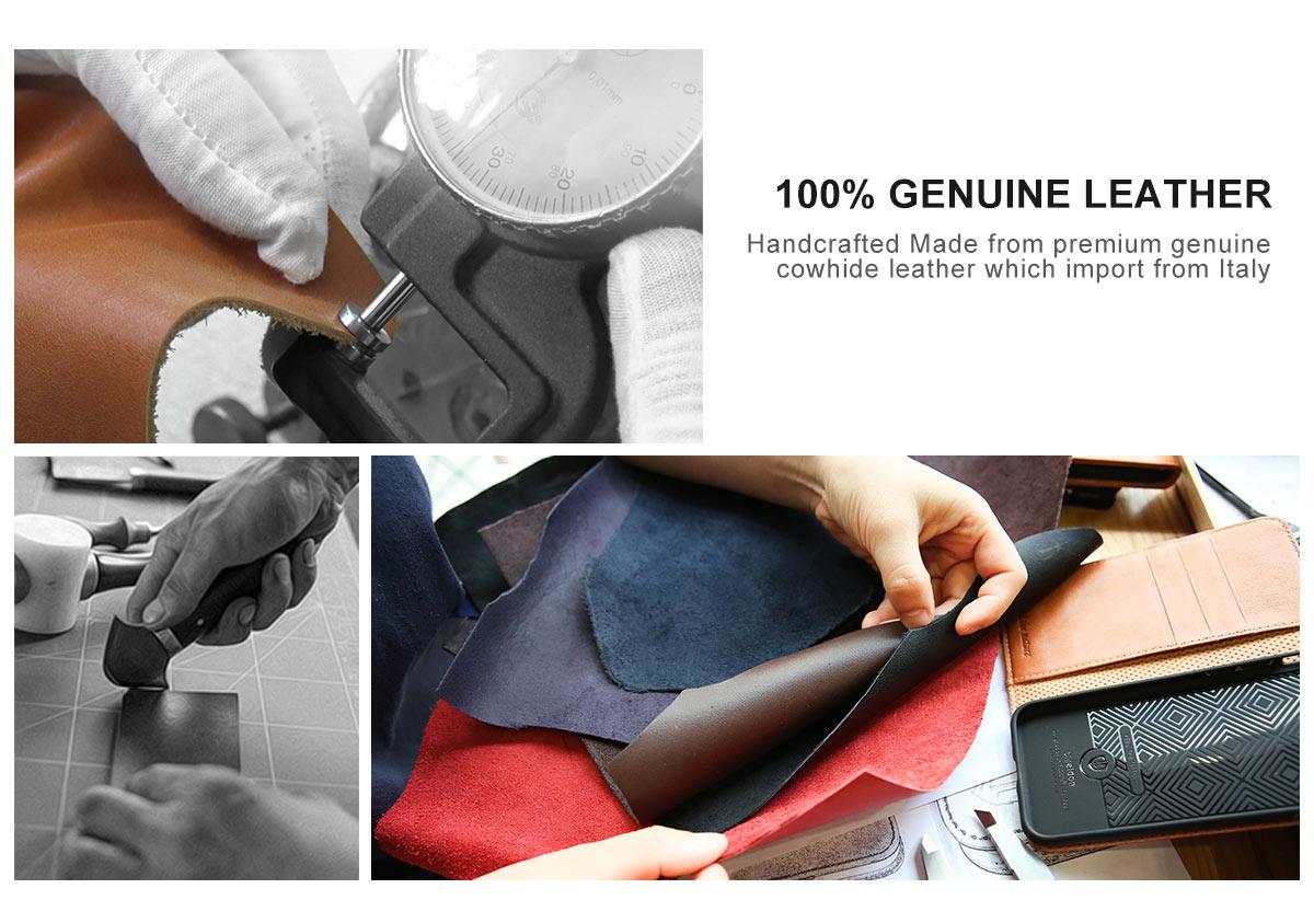 SHIELDON Galaxy S7 Genuine Leather Book Case