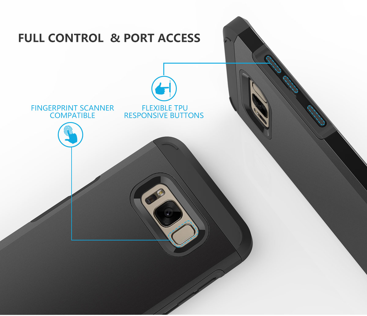 SHIELDON The Best SAMSUNG Galaxy S8 Case for Drop Protection