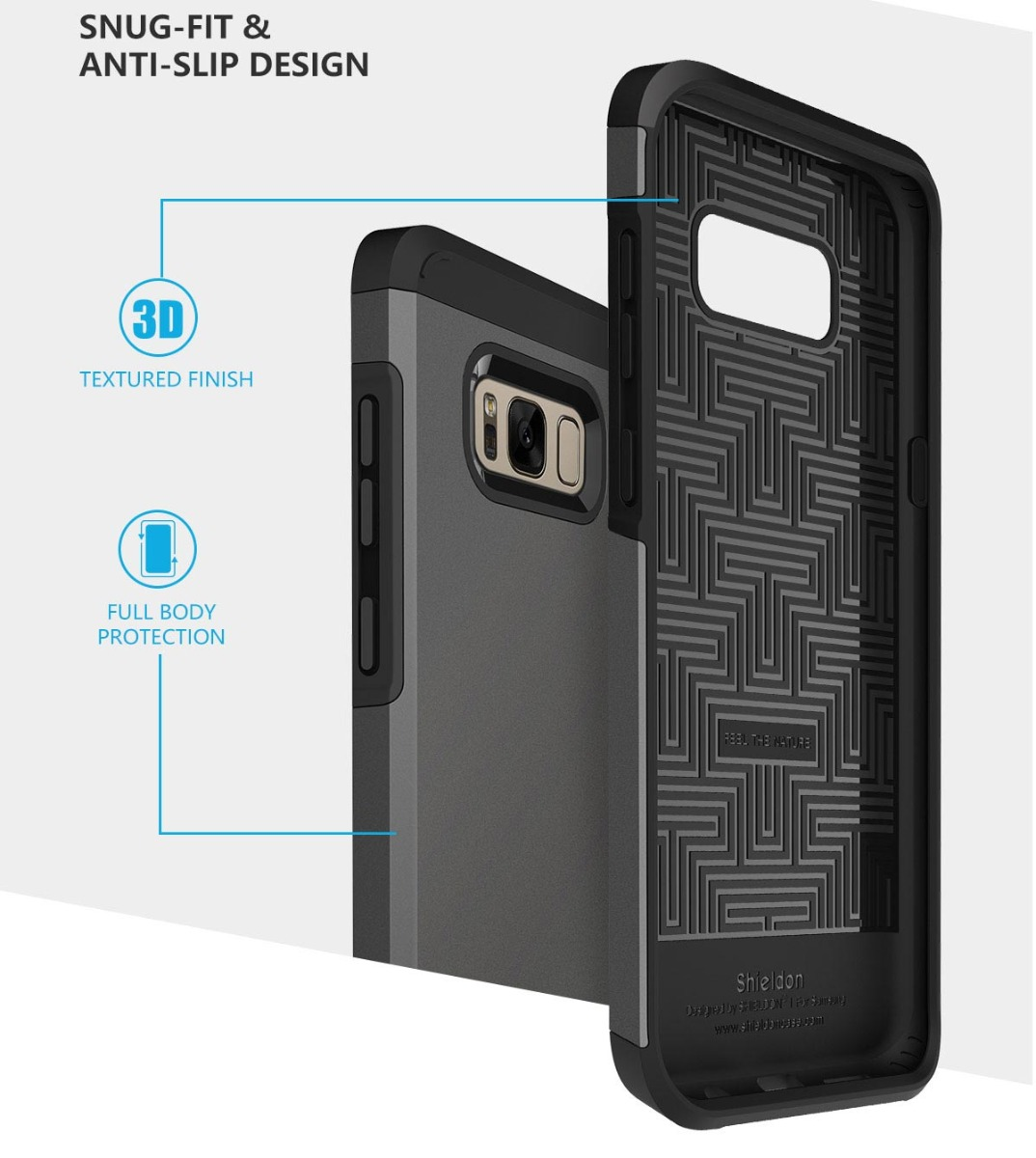 SHIELDON Galaxy S8 Drop Protection Case