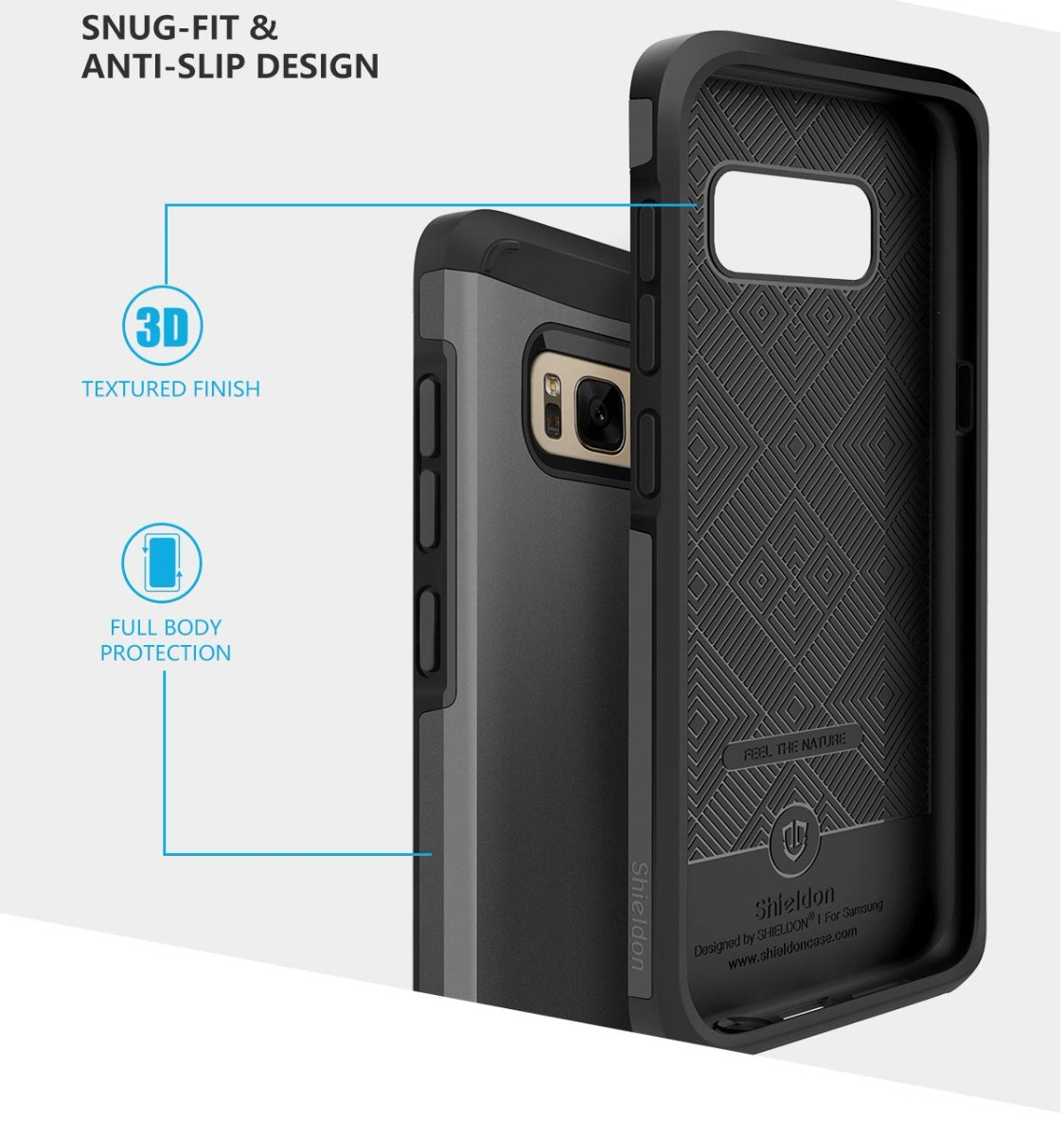 SHIELDON Galaxy S8 Dual Layer Case -SAMSUNG S8 Protection Case - Sunrise Series