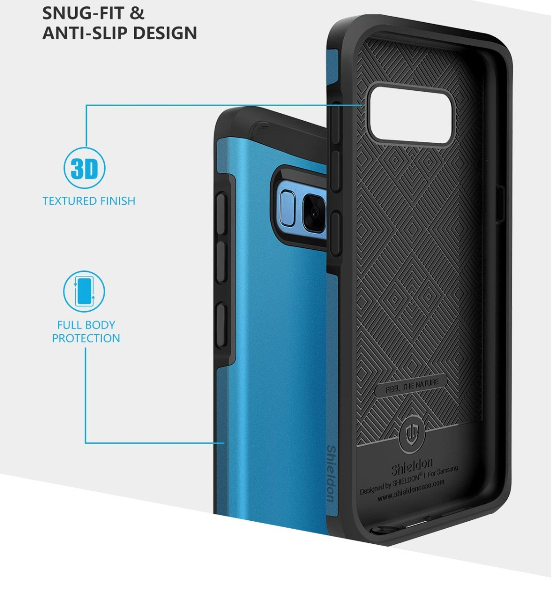 SHIELDON SAMSUNG Galaxy S8 Drop Protection Case - Sunrise Series