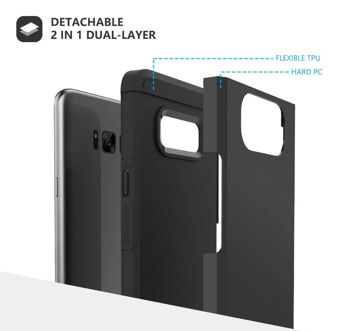 SHIELDON Galaxy S8 Plus Drop Protection Case Mountain Series