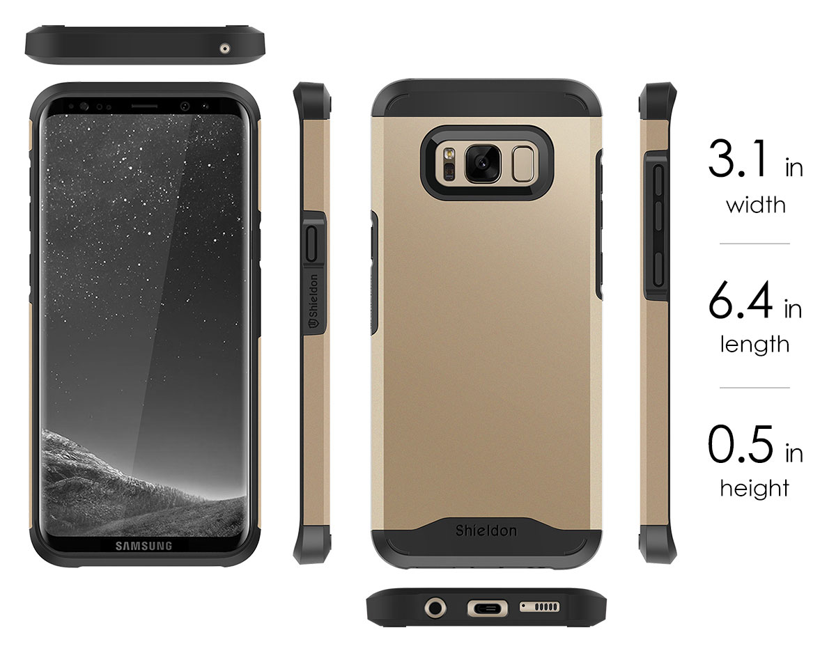 SHIELDON SAMSUNG Galaxy S8 Plus Case with TPU - Mountain Series