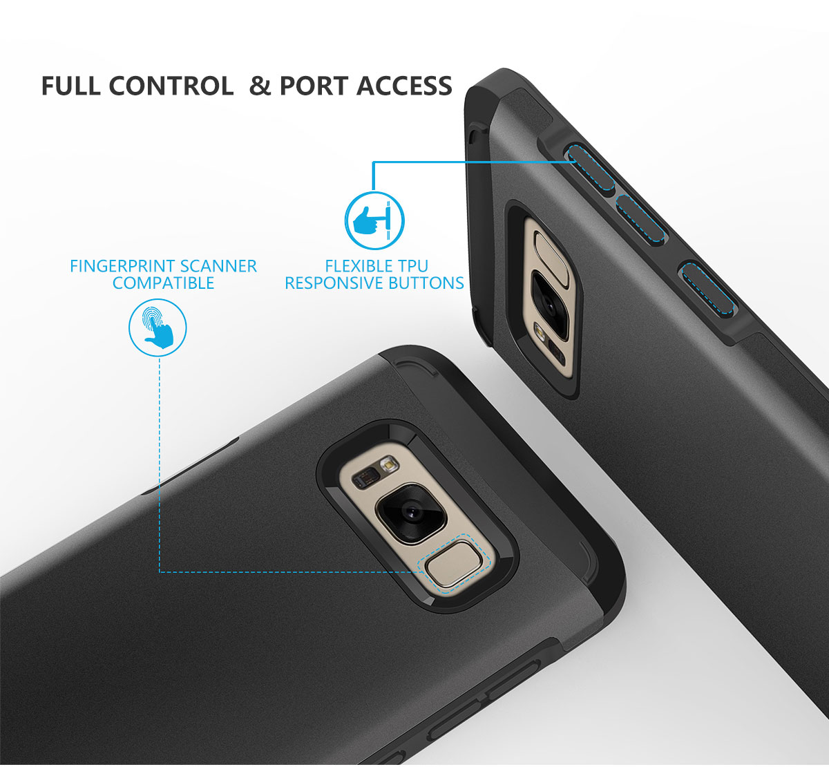 SHIELDON Galaxy S8 PLUS Sunrise Series Dual Layer Case -Galaxy S8+ Protection Case
