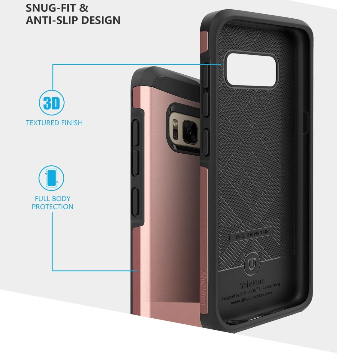 SHIELDON Galaxy S8 PLUS Sunrise Series Dual Layer Case -SAMSUNG S8+ Protection Case