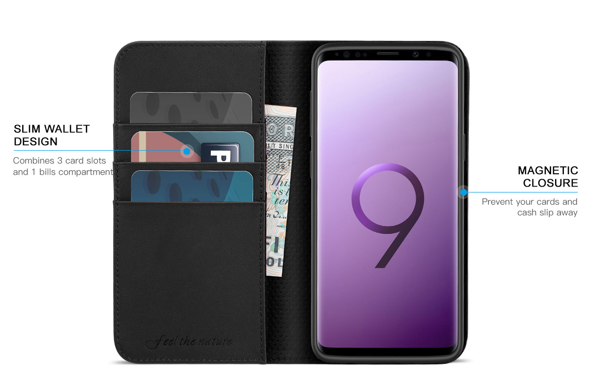 SHIELDON SAMSUNG Galaxy S9 Wallet Case
