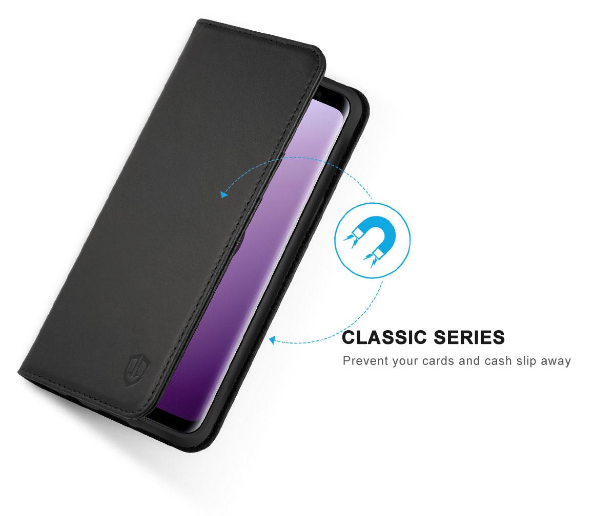 SHIELDON Samsung Galaxy S9 Plus Wallet Case