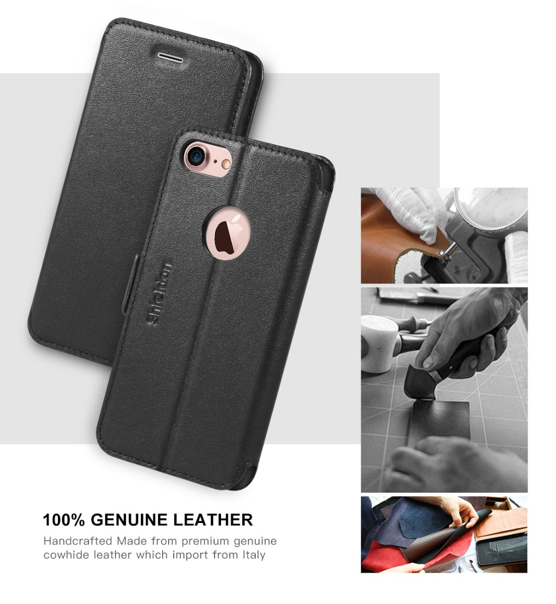 SHIELDON iPhone 7 Book Case with TPU Case