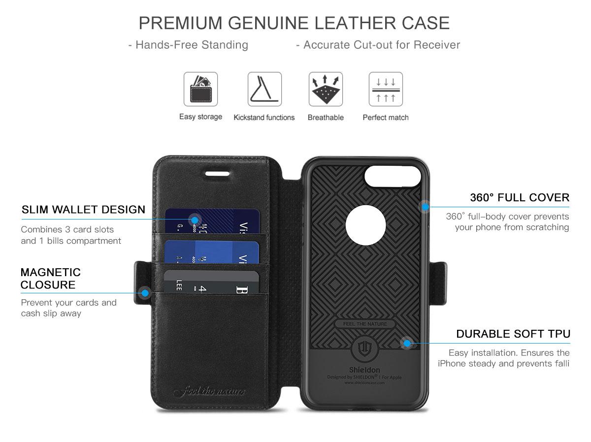 SHIELDON iPhone 7 Plus Book Case with TPU Case