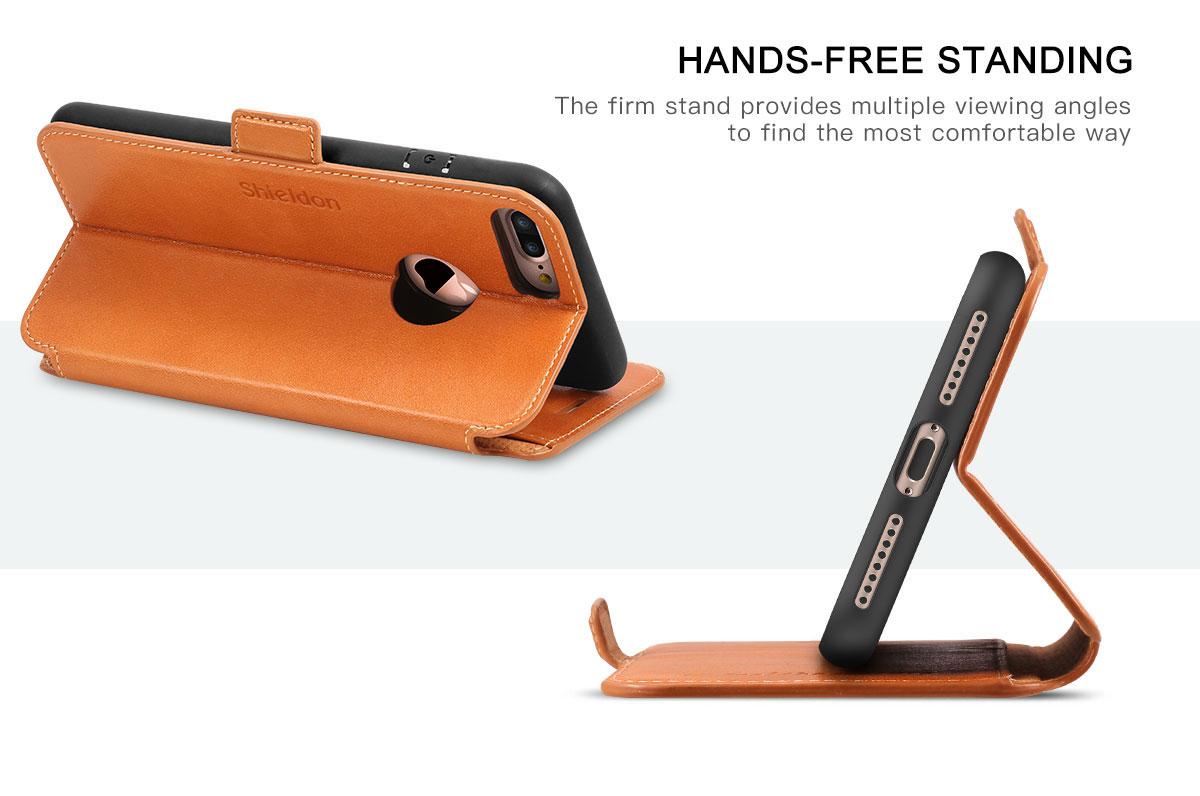 SHIELDON iPhone 7 Plus Book Case with TPU