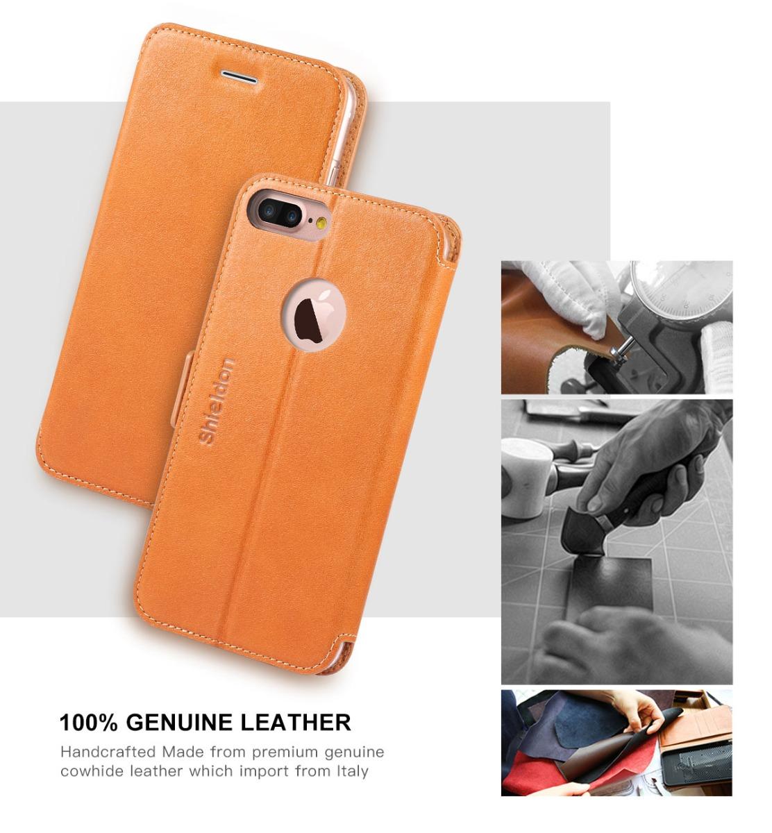 SHIELDON iPhone 7 Plus Flip Case
