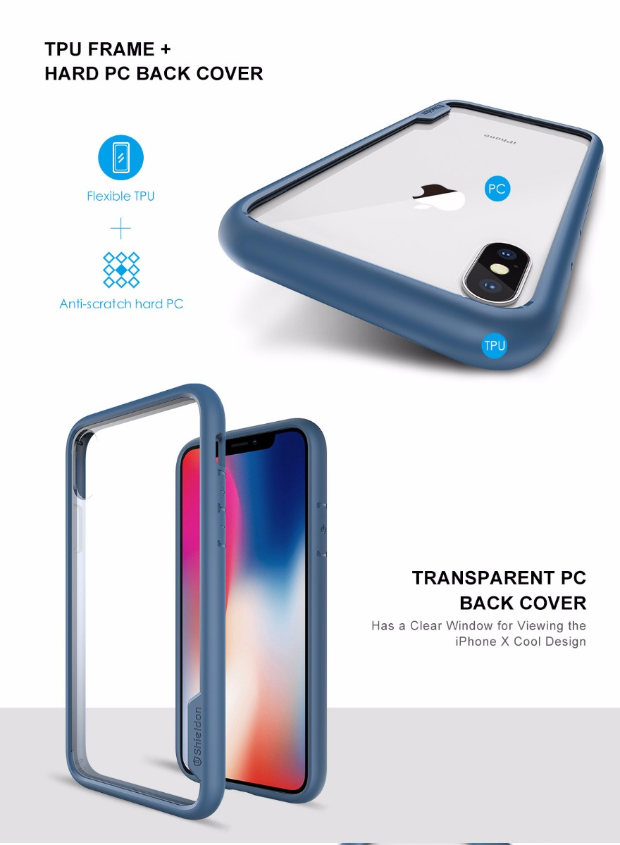 SHIELDON iPhone XS, iPhone X / iPhone 10 Protection Case - Glacier Series