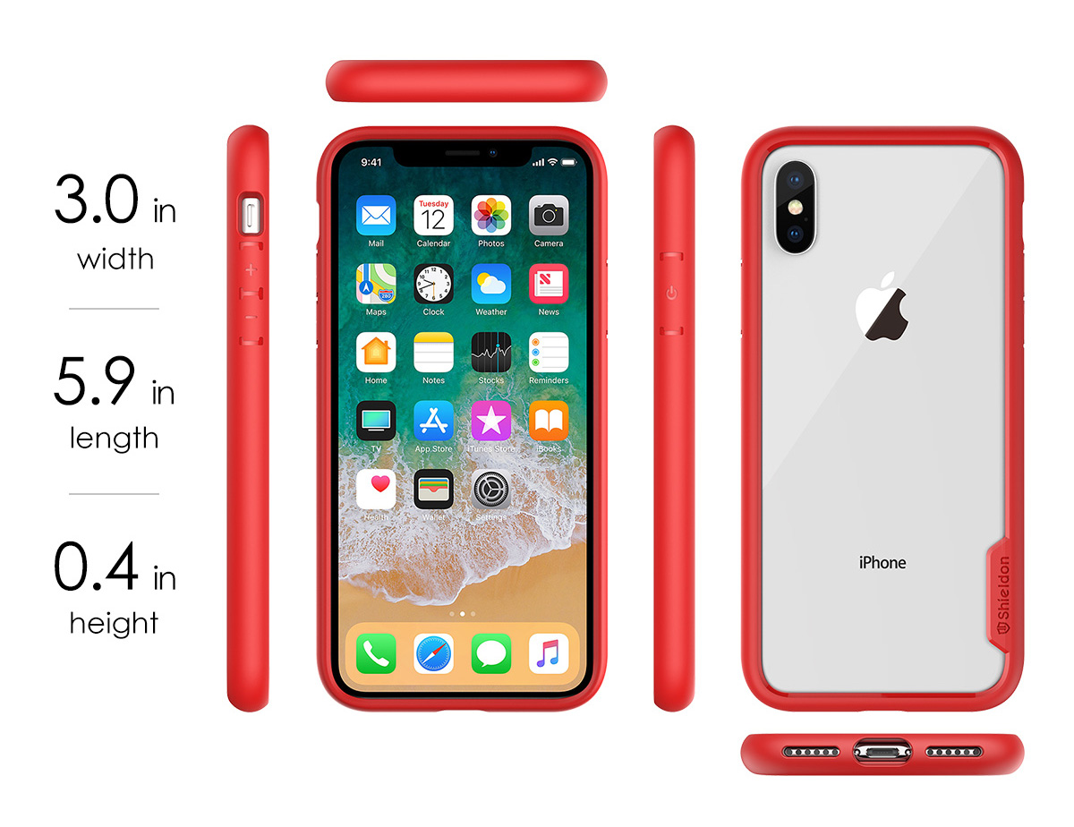 SHIELDON iPhone X / iPhone 10 Clear Case - Glacier Series