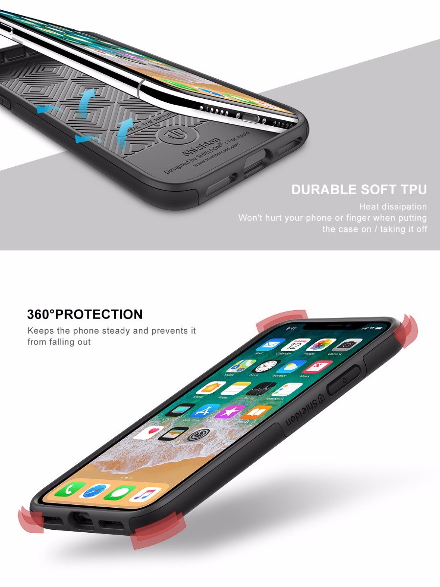 Shieldon iPhone XS, iPhone X Drop Protection Case - Plateau Series