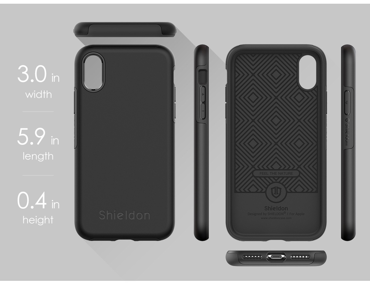 Shieldon iPhone XS, iPhone X Drop Protection Case - Plateau Series