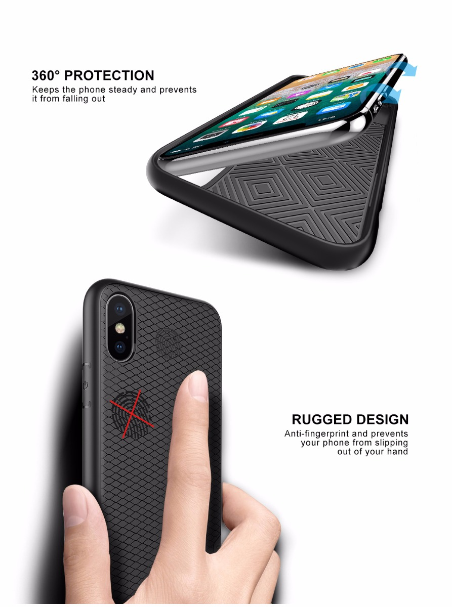 SHIELDON iPhone X / iPhone XS  / iPhone 10 Protection Case - Waves Series