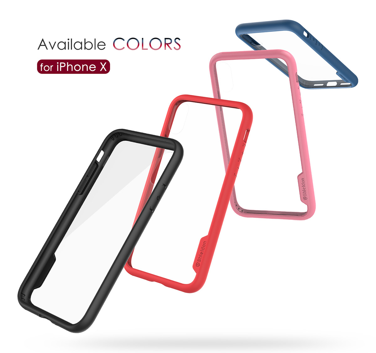 SHIELDON iPhone XS, iPhone X / iPhone 10 Clear Case - Glacier Series