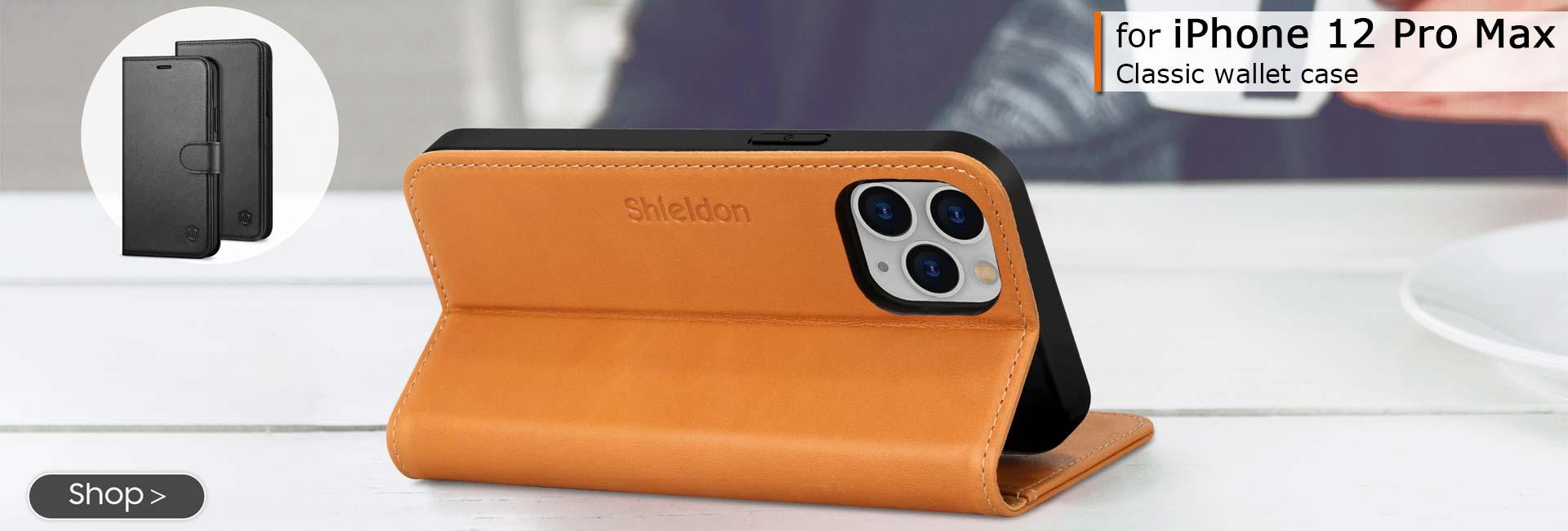 Shieldon iPhone 12 Pro Max Wallet Case