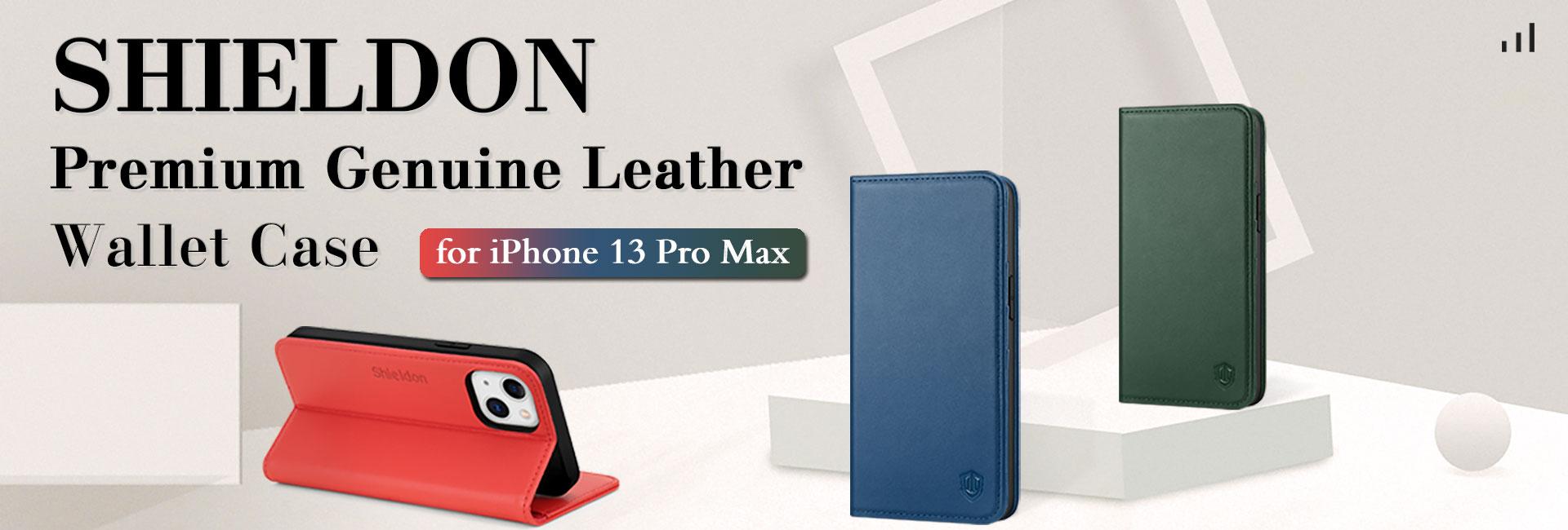 Shieldon iPhone 13 Pro Max Wallet Case
