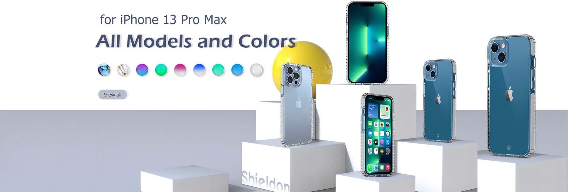Shieldon iPhone 13 Pro Max Clear TPU Cases