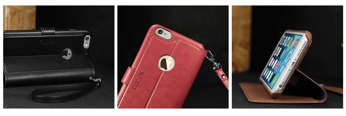TUCCH iPhone 6S / 6 Plus Leather Wallet Phone Case