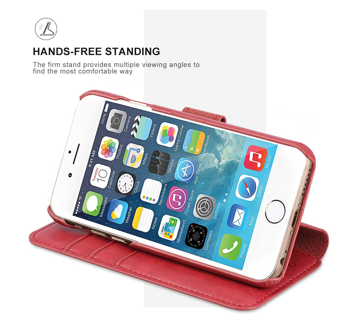 TUCCH iPhone 6S/6 Case, Wrist Strap, Magnetic Closure