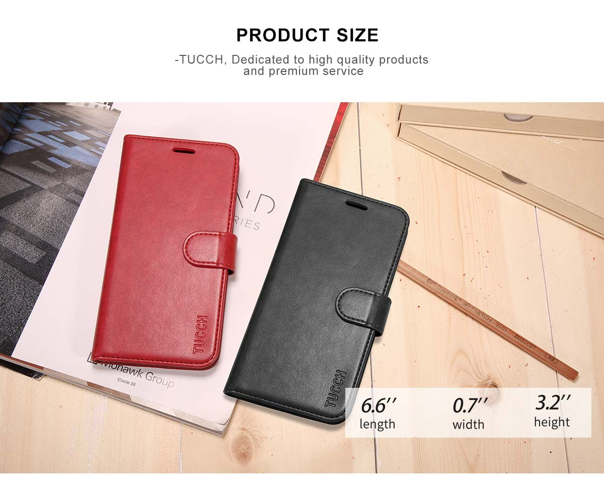 TUCCH iPhone 7 Plus PU Leather Wallet Case
