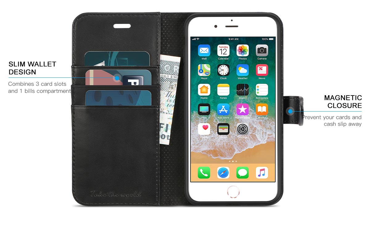 TUCCH iPhone 8 Plus Wallet Case