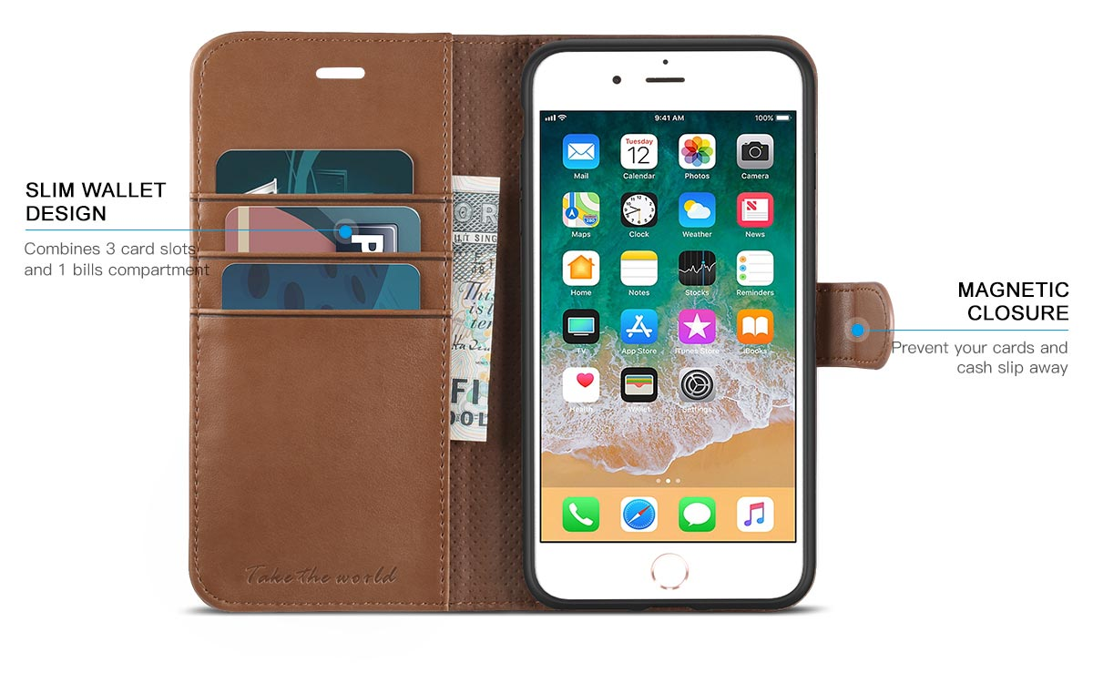 TUCCH iPhone 8 Plus TPU Shockproof Interior Case