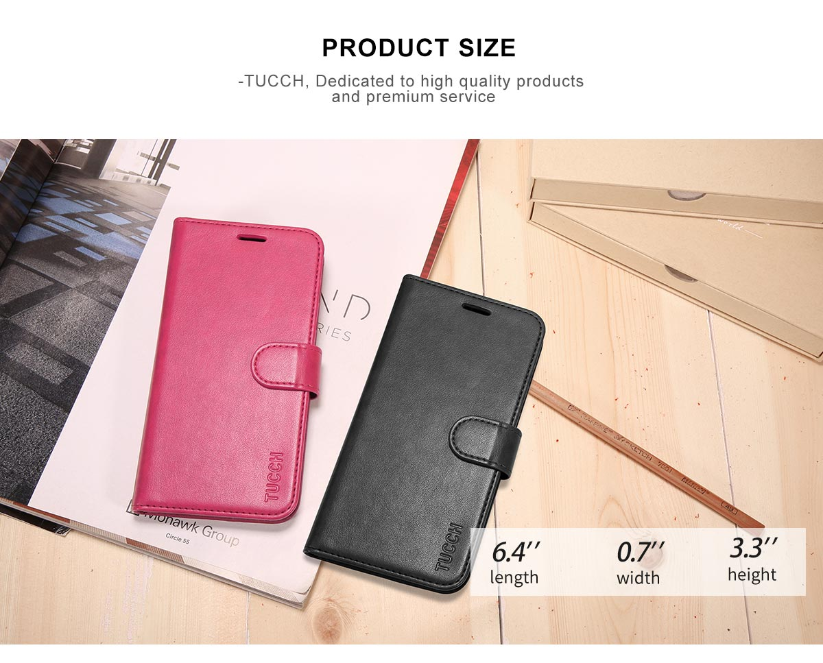 TUCCH iPhone 8 Plus Case Magnetized Closure