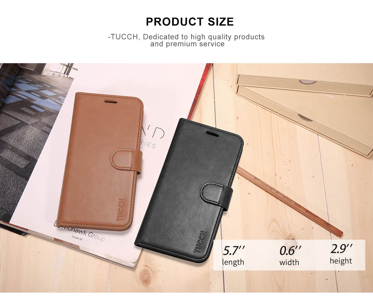 TUCCH iPhone 8 PU Leather Wallet Case