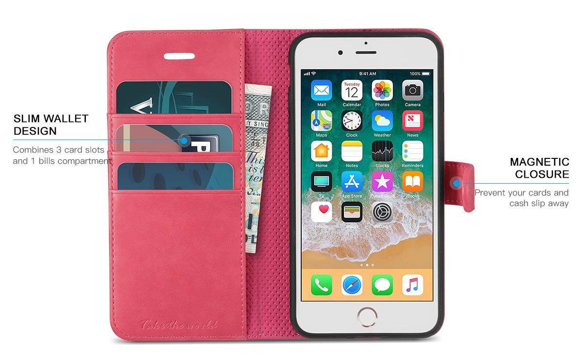 TUCCH iPhone 8 TPU Shockproof Interior Protective Case