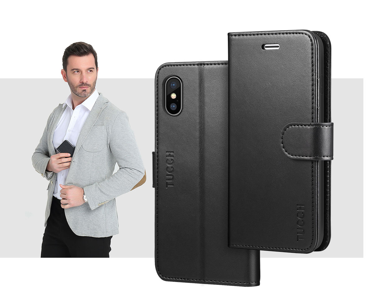 TUCCH iPhone X Wallet Case