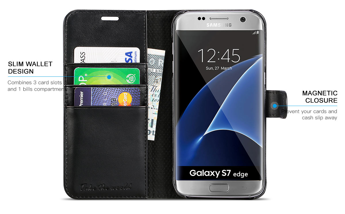 TUCCH Galaxy S7 Edge Wallet Case