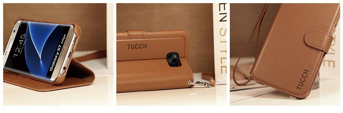 TUCCH Galaxy S7 Edge Flip Folio Case