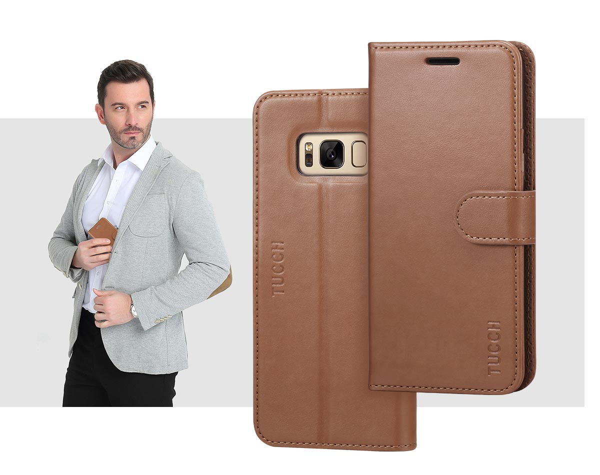 TUCCH Samsung Galaxy S8 Plus leather Case