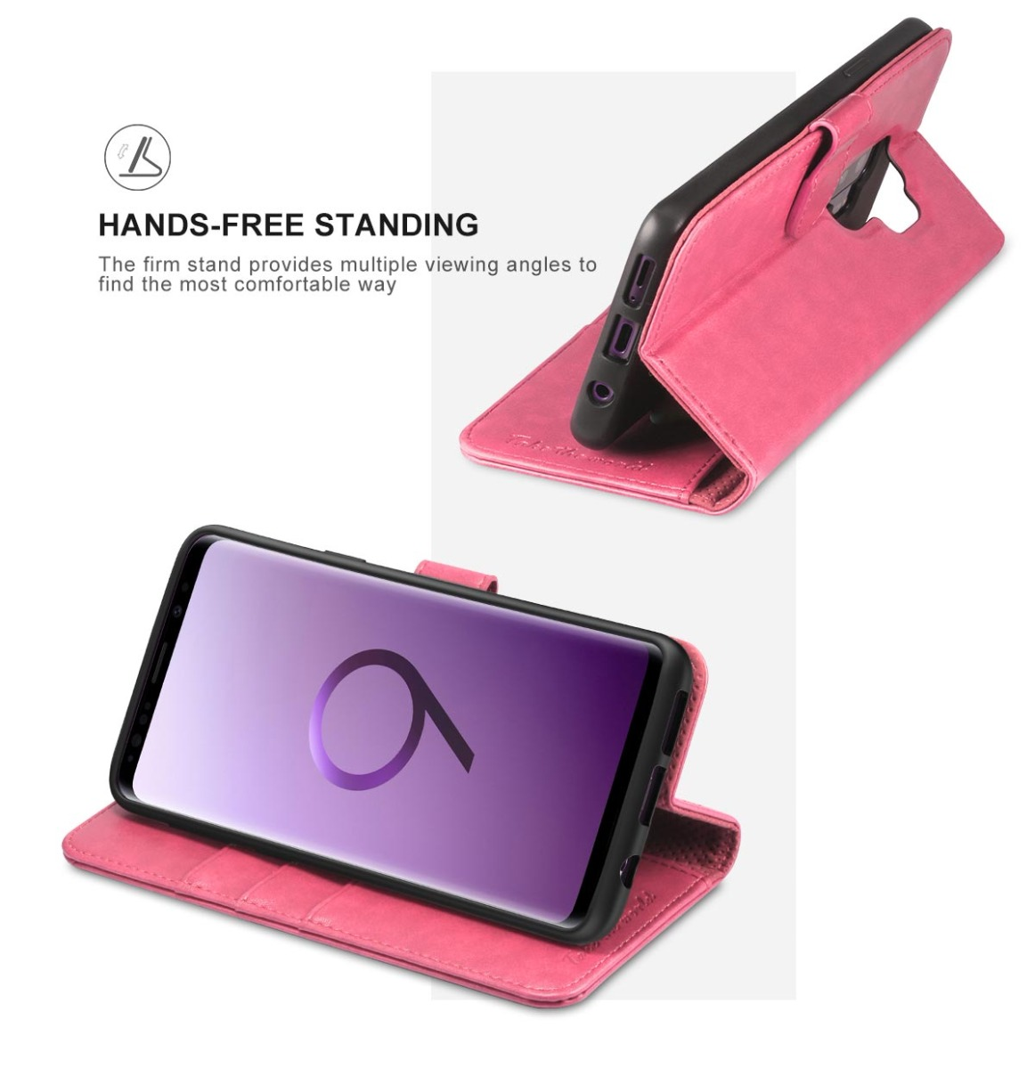 TUCCH Samsung S9 Plus Wallet Case, Kickstand, Magnetic Closure