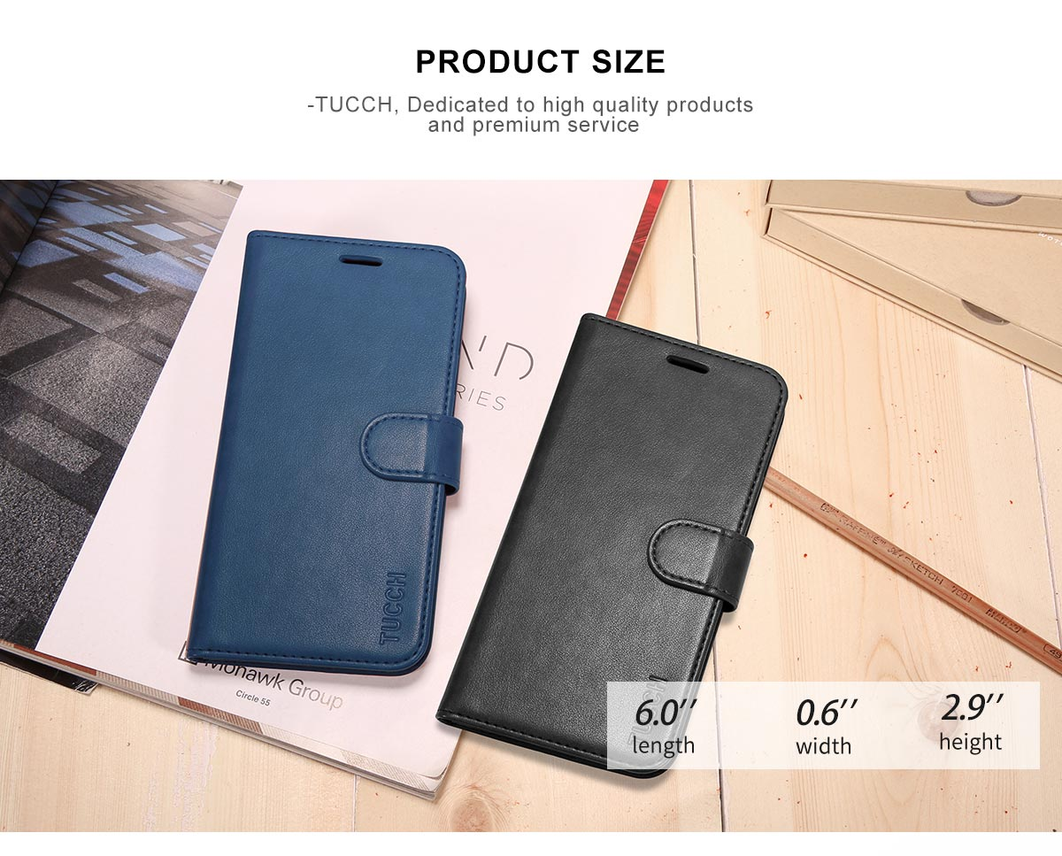 TUCCH Galaxy S9 Premium PU Leather Flip Folio Case