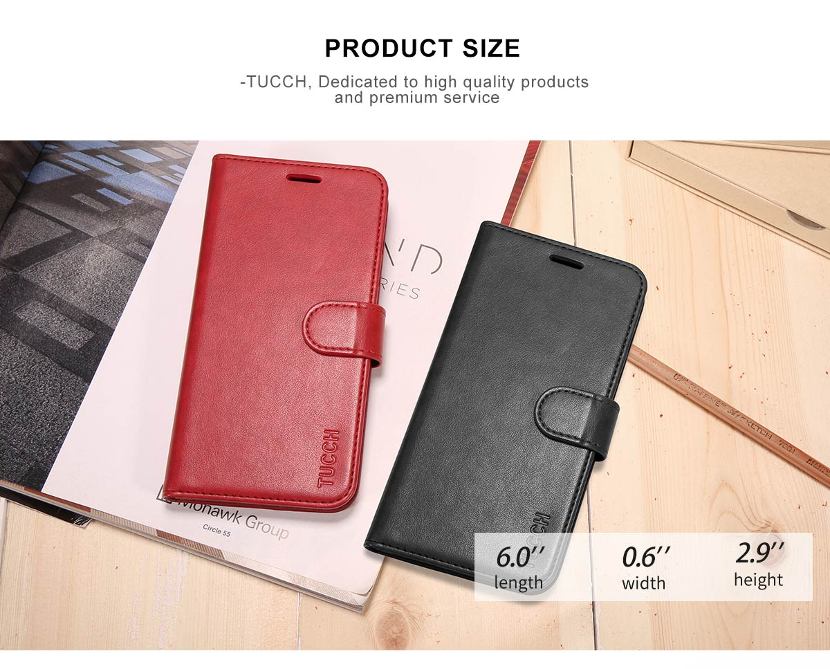 TUCCH Samsung S9 Wallet Case